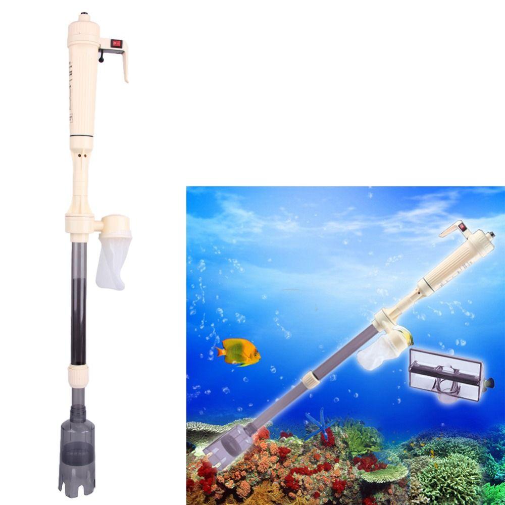 Aquarium Auto Outils De Nettoyage Aquarium Batterie Syphon Opéré Fish Tank Vide Gravel Filtre À Eau Cleaner