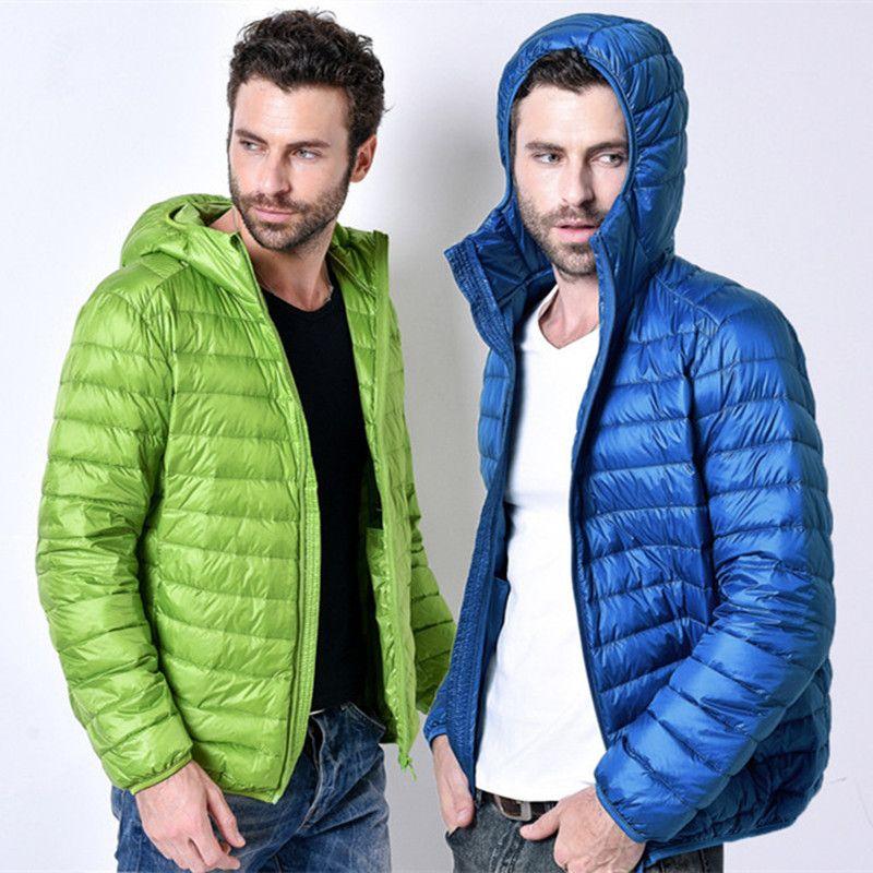 2017 New Fashion Brand White Duck Down Jacket Men Autumn Winter Warm Coat Men's Ultralight Duck Down Jacket Male Windproof Parka