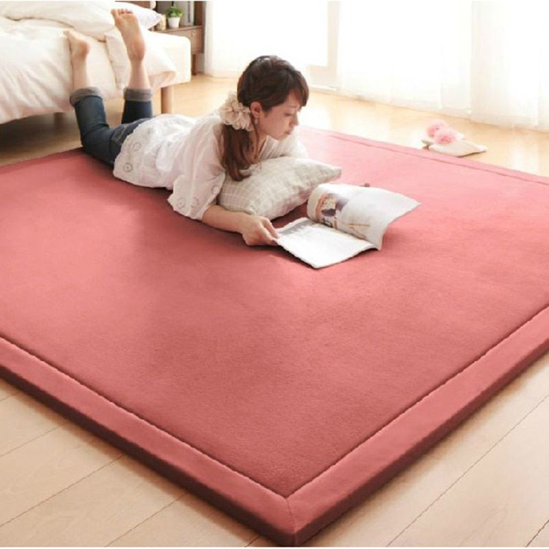 2CM Thick Coral Fleece Mat Carpet 180*200*2CM Tatami Tea Table Manually Bedroom Carpet Rectangle Living Room Rug