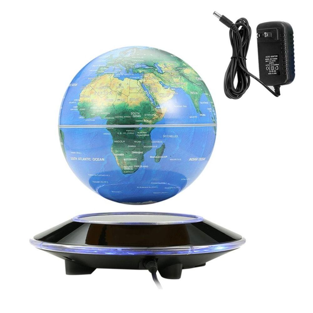 6 Inch Magnetic Levitation Floating Globe Rotating World Map LED Light Globe Children Educational Toys Home Decor for Gift