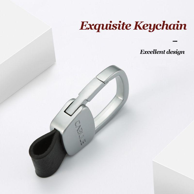Clé de voiture portefeuille intelligent en métal véritable cuir bricolage clés titulaire ceinture pendaison portefeuille pour voiture cadeau d'affaires EDC femme de ménage
