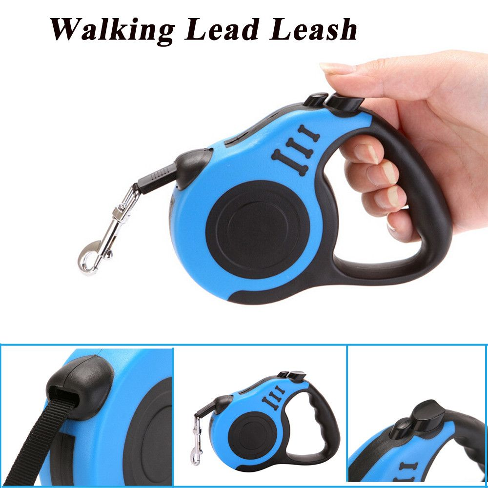 3M/5M Roulette For Dogs Automatic Retractable Leashes Flexible Cats Collars 4 Colors Puppy For Small Medium Pet Dog Accessories