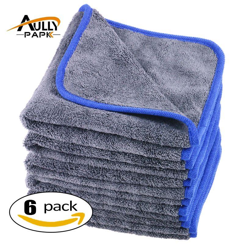 800gsm Microfibre Towels Thick Plush Microfiber Car Cleaning Cloths Car <font><b>Care</b></font> Wax Polishing Detailing Wash 40CM*40CM