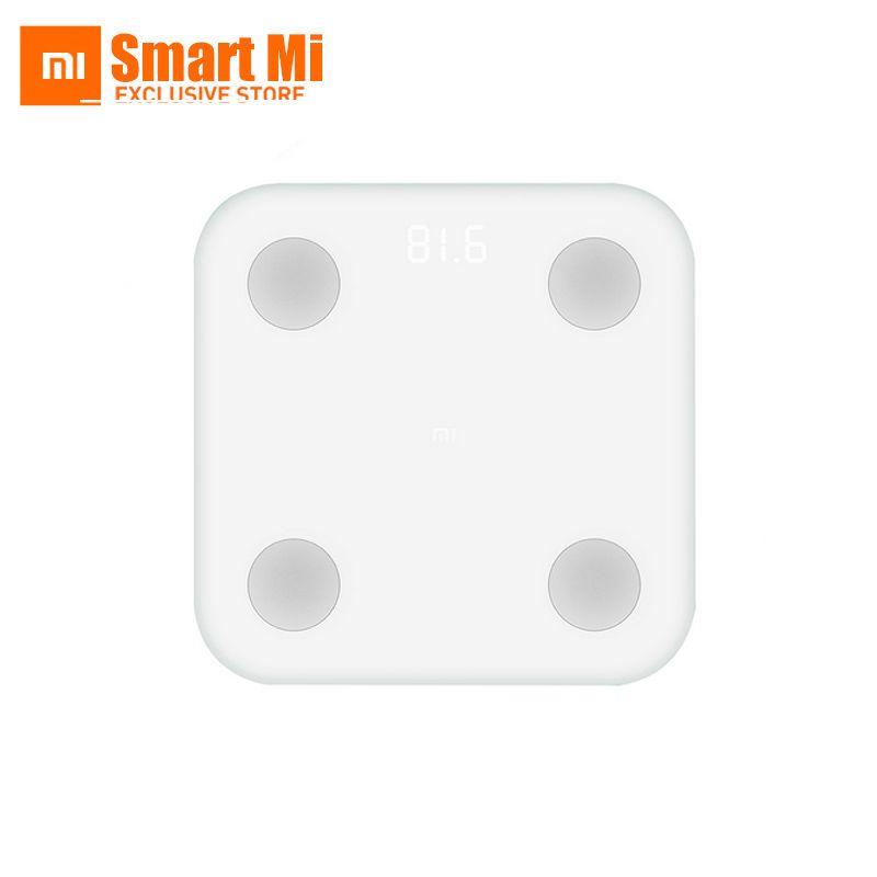 2017 D'origine Xiaomi Mi Corps Gras Échelle 2 Bluetooth 4.0 Caché Affichage LED Ultra Mince Simple Apparence IMC BMR Viscérale Graisse Test