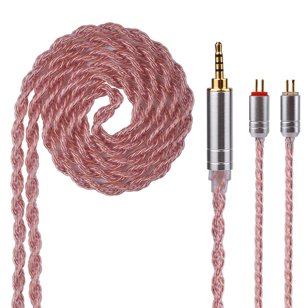 Yinyoo 6 Core 2.5/3.5/4.4mm <font><b>Balanced</b></font> Copper Plated Cable Earphone Upgrade Cable With MMCX/2Pin For QT2 KZ zst/zs6/zsr/zs10/ed16