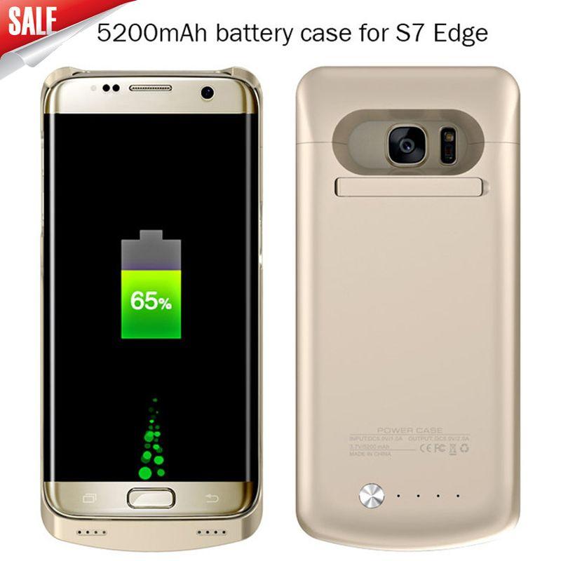 Power Bank Couverture de Cas Pour Samsung galaxy S7 4200 mAh & S7 bord 5200 mAh D'urgence De Secours Externe Batterie Chargeur Cas