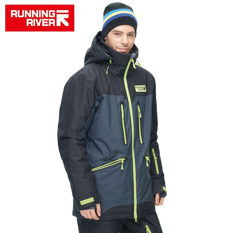 LAUF FLUSS Marke Hohe Qualität Männer Winter Ski Jacke 4 Farben 6 Größen Warme Sport Im Freien Kleidung Für Mann Ski jacken # N6419