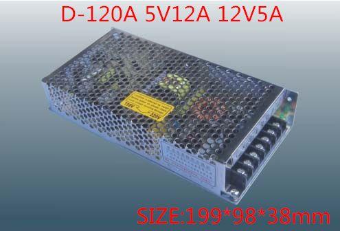 120 W MINI double sortie alimentation à découpage tension de sortie 5 V 12 V AC-DC D-120A
