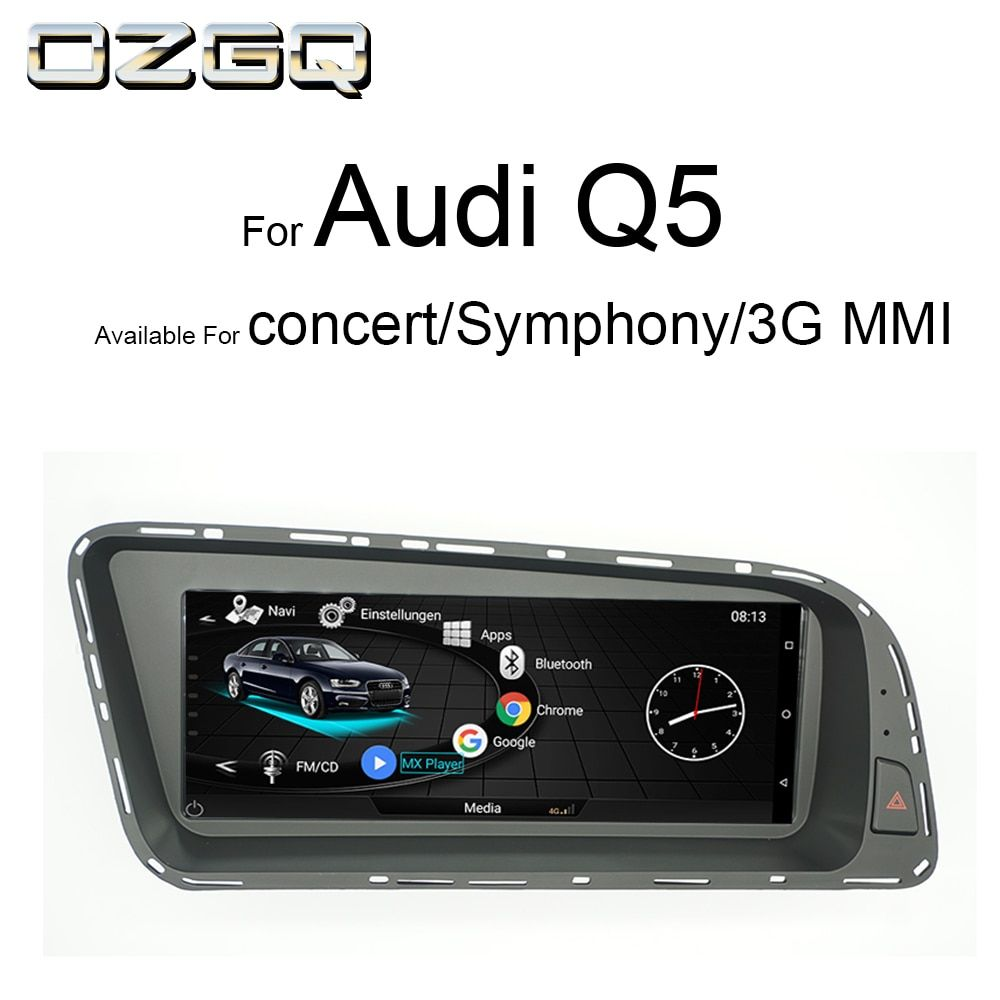 OZGQ Android System 3G MMI Car Multimedia Player Autoradio For Audi Q5 2010-2016 With MMI Control Bluetooth WIFi Map Function