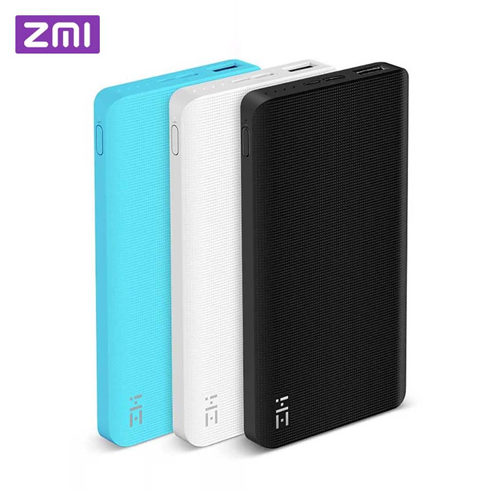 Xiaomi ZMI 10000 mAh Power Bank External Battery 10000mAh Powerbank portable charging Type-C-way Quick Charge 2.0 for iPhone