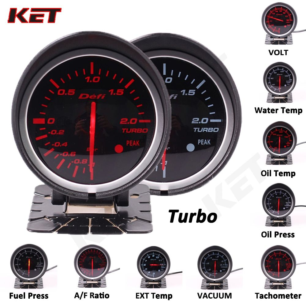 Defi BF 2.5inch 60mm auto meter Gauge Volt water temp oil temp oil press rpm vacuum boost ext temp air/fuel Ratio gauge