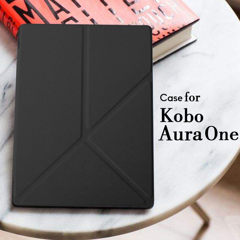 Etui de couverture pour Kobo Aura One 7.8 pouces eBook lecteur magnétique PU étui en cuir + Film de protection d'écran + stylet