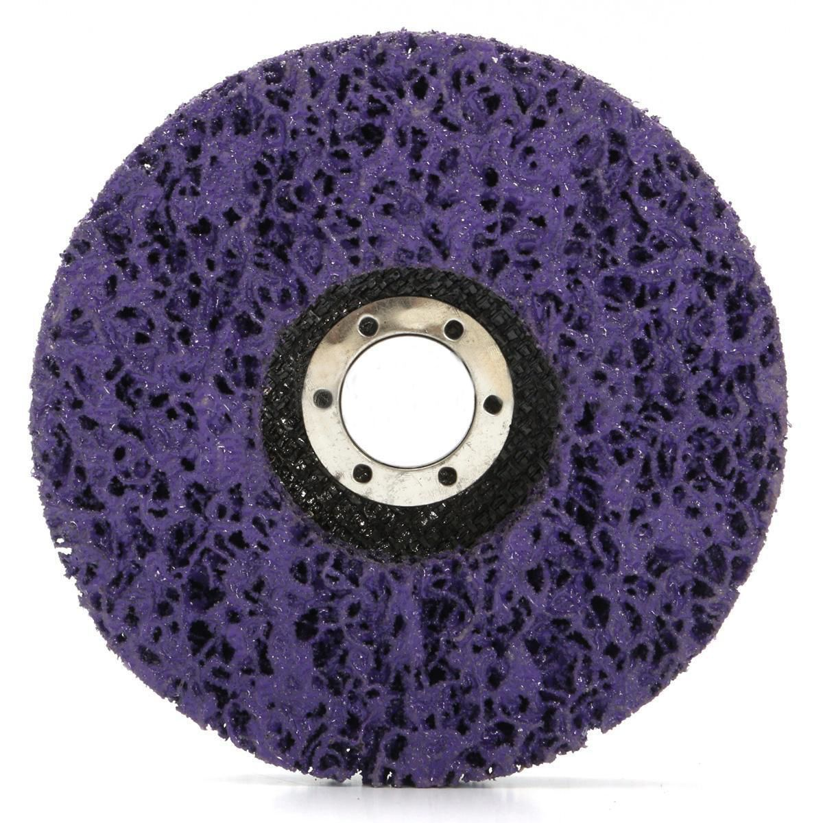 2pcs 125mm Clean Grinding Wheels Paint Rust Removal Poly Strip Disc 40 Grits For <font><b>Angle</b></font> Grinder