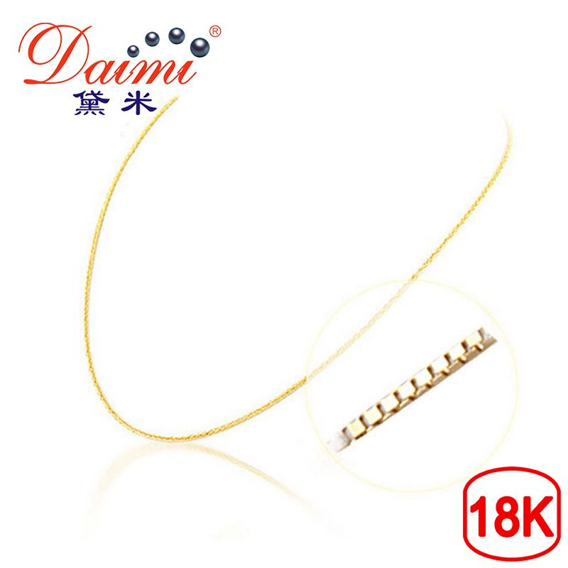 [DAIMI] Genuine 18K White Gold Yellow Gold Chain Cost Price Sale Pure Gold Necklace Best Gift For Women