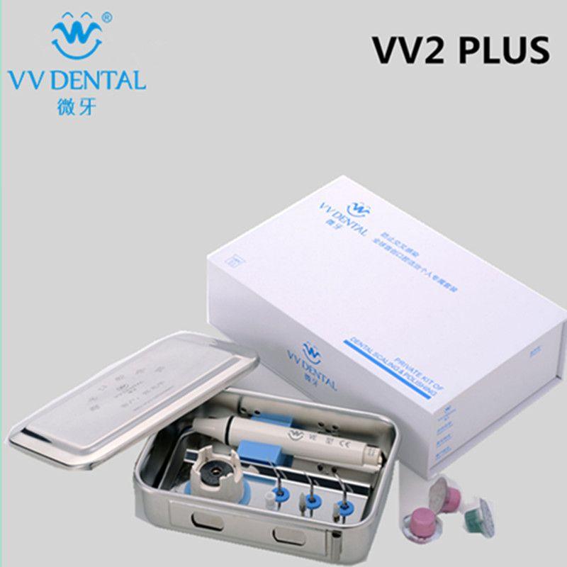 Neue dental Set VV2 Plus Ultraschall Dental Scaler Handstück Und Tipps Fit auf EMS/SPECHT Zähne Bleaching Ausrüstung Dental