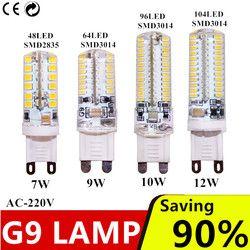 G9 led 7 W 9 W 10 W 12 W AC220V 240 V G9 led lampe Led ampoule SMD 2835 3014 LED g9 lumière Remplacer 30/40 W halogène lampe lumière