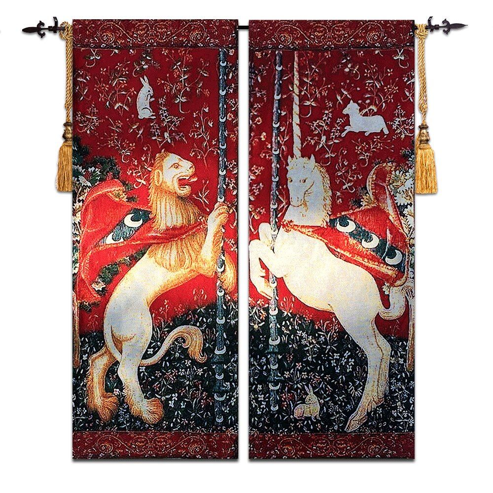 High Quality Belgian European style Tapestry classical art Medieval Paintings Unicorn GT-SFD071