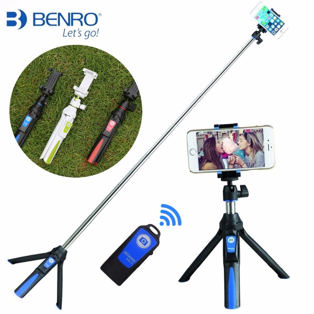 Benro MK10 Handheld & Tripod Combo Selfie Stick with Bluetooth Remote & GoPro Adapter For iPhone 7 Sumsang Galary Huawei