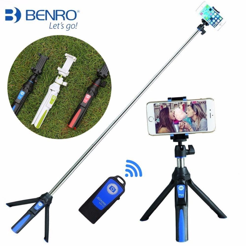 Benro MK10 De Poche et Trépied Combo Selfie Bâton avec Bluetooth À Distance & GoPro Adaptateur Pour iPhone 7 Sumsang Galary Huawei