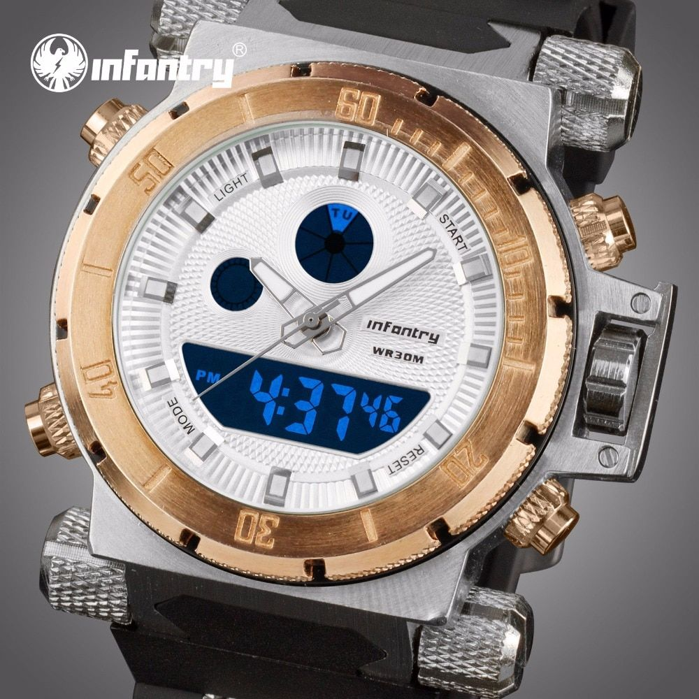 INFANTRY Mens Watches Top Brand Luxury Analog Digital Watch Men Army Military Sport Wristwatch Big Tactical Relogio Masculino