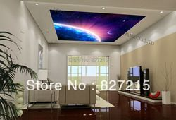 u-5029 aurora shining in the universal printing ceiling film with fluorescent lamp for home embelishment
