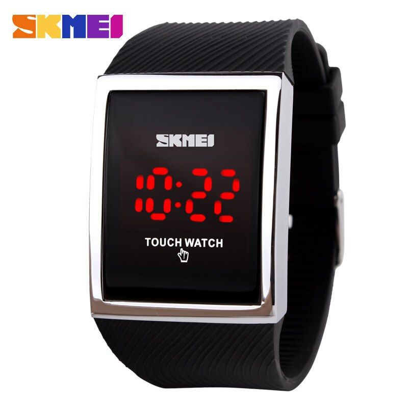 Fashion Men Women Electronic LED <font><b>Touch</b></font> Candy Jelly Watch Silicone Sports Digital Watch 2017 New