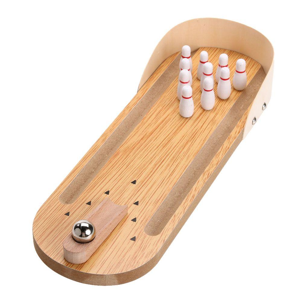 Jeu de quilles en bois Mini bureau jeu de jouets amusant intérieur Parent-enfant jeu de Table interactif Bowling jouet de développement