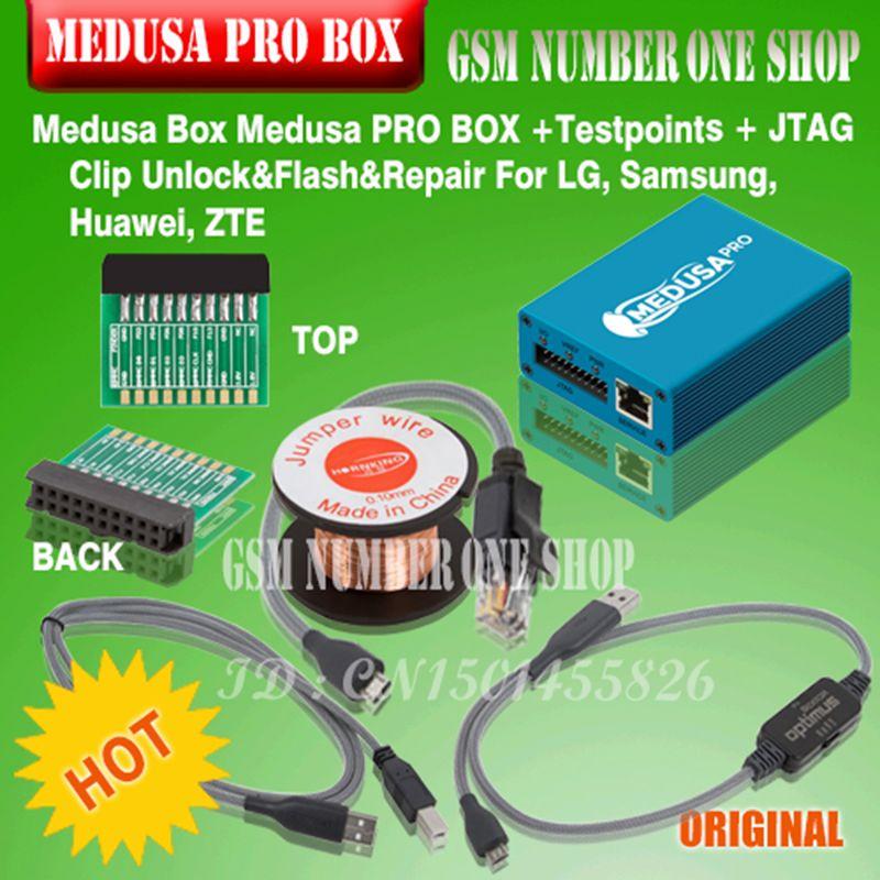 Original new Medusa PRO Box Medusa Box  + JTAG Clip MMC For LG For Samsung For Huawei with Optimus cable