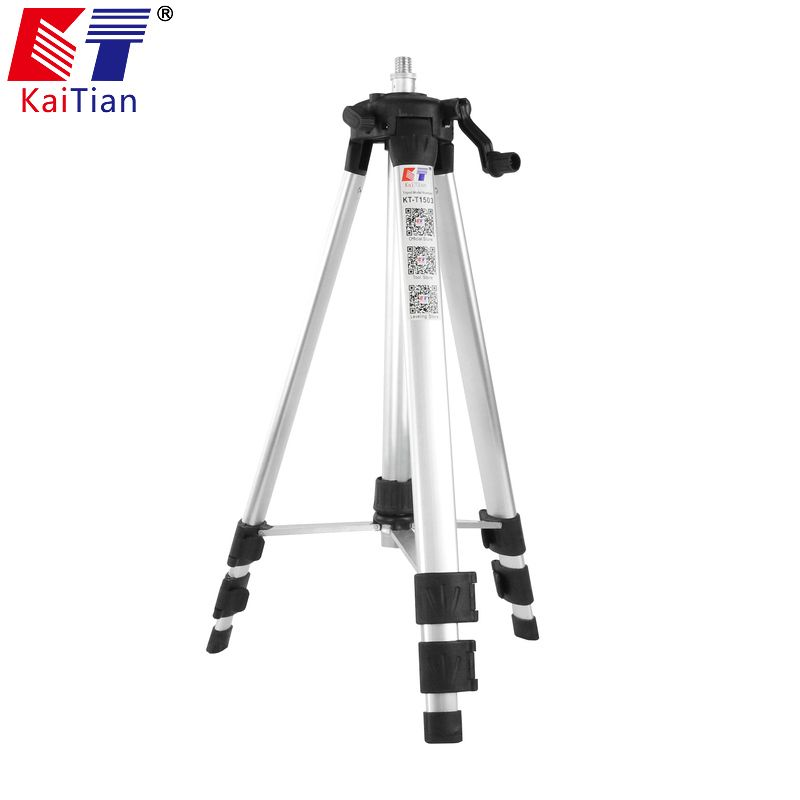 Kaitian 1.5M Tripod for 12 Lines Lasers Level with Extension Rod Adjustable Height Plus Additional Detachable Adjustment Bracket