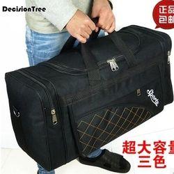 Вместительные дорожные сумки для мужчин и женщин, водонепроницаемые сумки на плечо, дорожные сумки из рубашечной ткани, большая сумка для п...