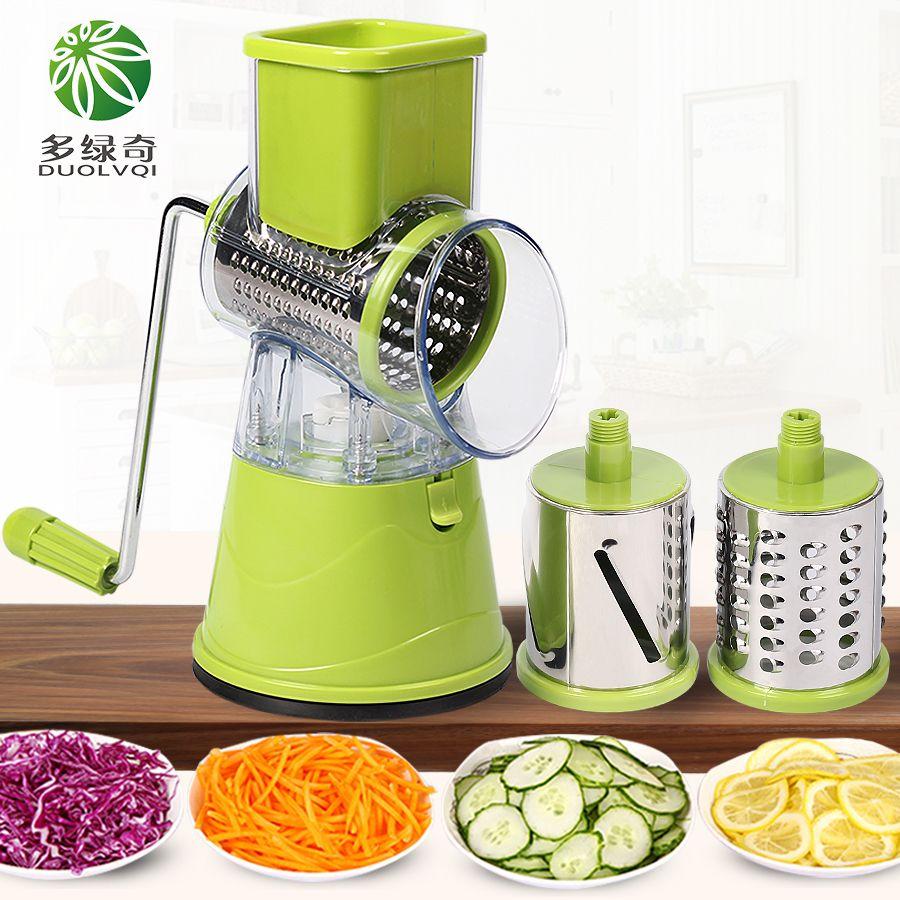 DUOLVQI Manuelle Gemüse Cutter Slicer Küche Zubehör Multifunktions Runde Mandoline Slicer Kartoffel Käse Küche Gadgets