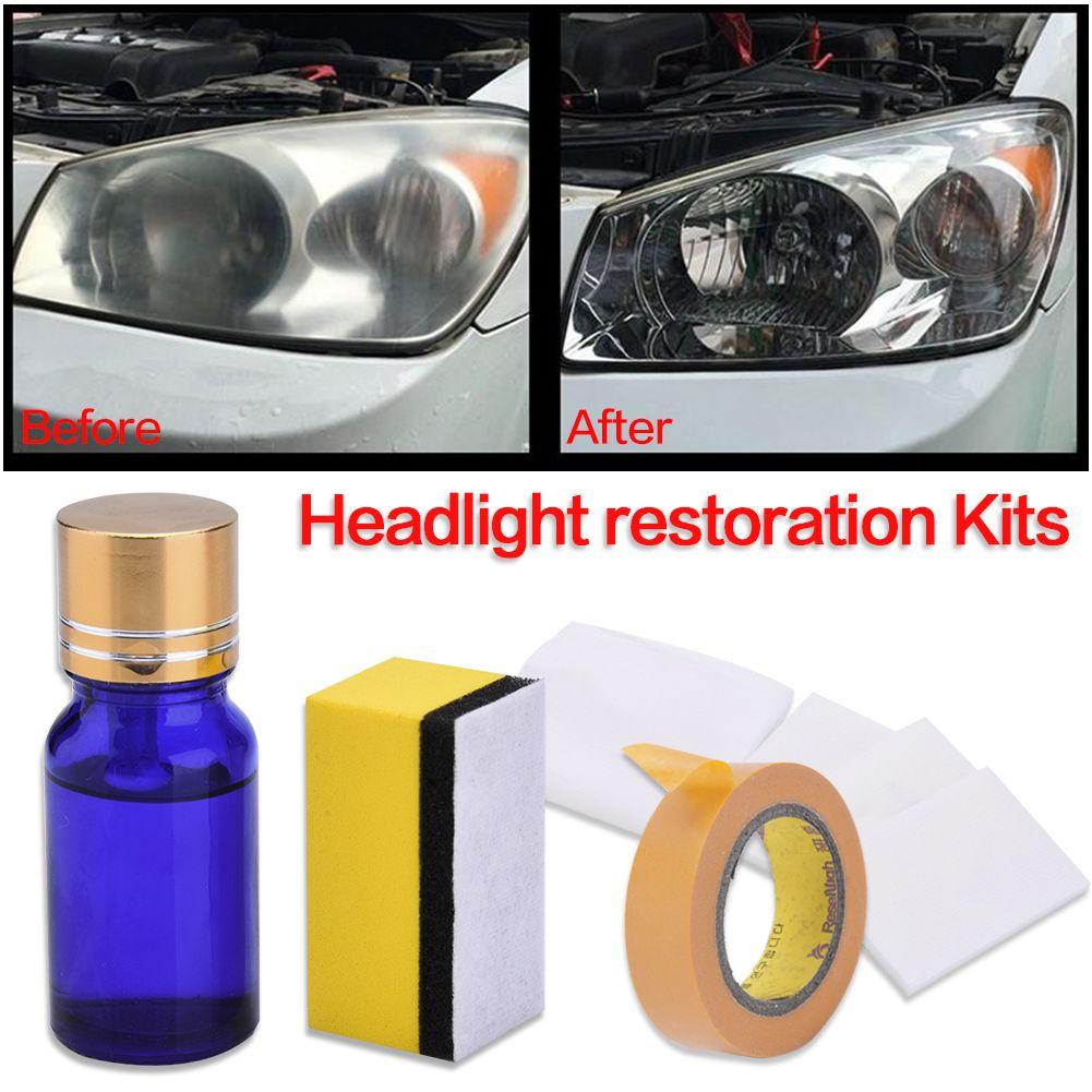 10ML 9H Hardness Car Headlight Restoration Kit Repair Liquid Polishing Coat Repair Agent Scratches Oxidation