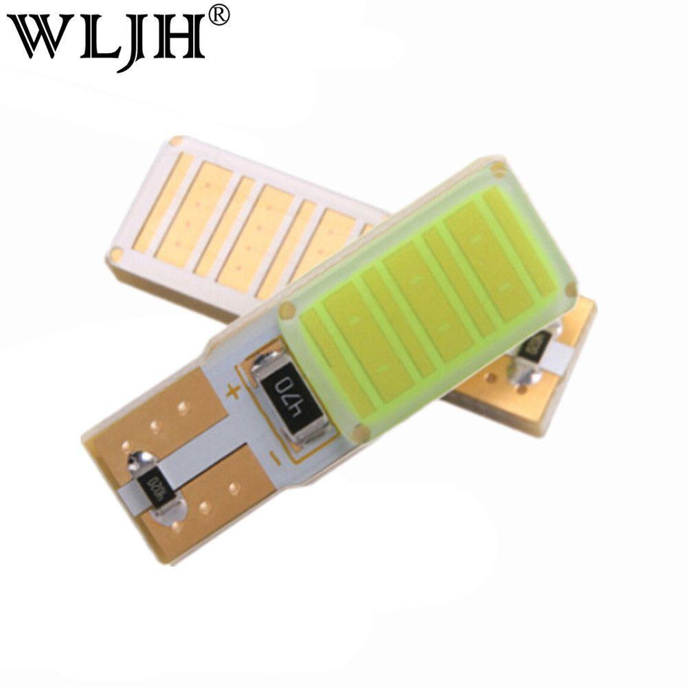 WLJH 2x High Power Canbus No Error Led W5W T10 Led COB Car Bulb Lamp Interior Parking Light External Lights Universal Auto LED