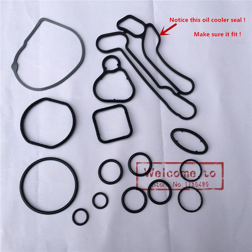 (15pcs/set)Cooling System Seal kit Oil Cooler Gasket For Chevrolet CRUZE Sonic OPEL Astra Zafira Sonic Aveo G3 Astra 55353319
