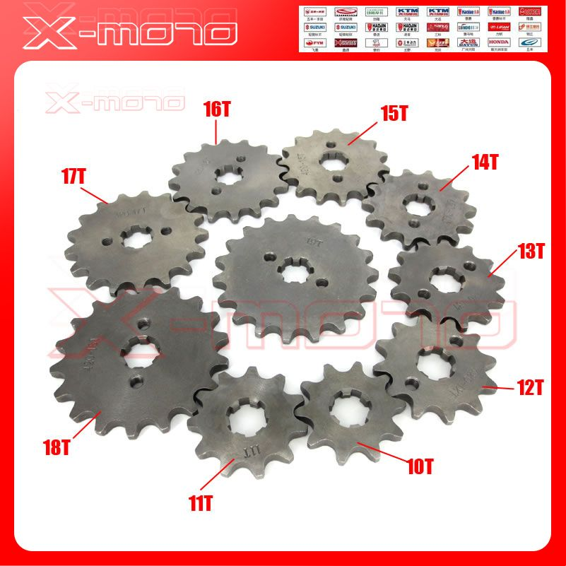 428 10-19T Tooth 17mm ID Front Engine Sprocket for 50-160cc Orion Apollo Dirt Pit Bike ATV Quad Go Kart Buggy Scooter Motorcycle
