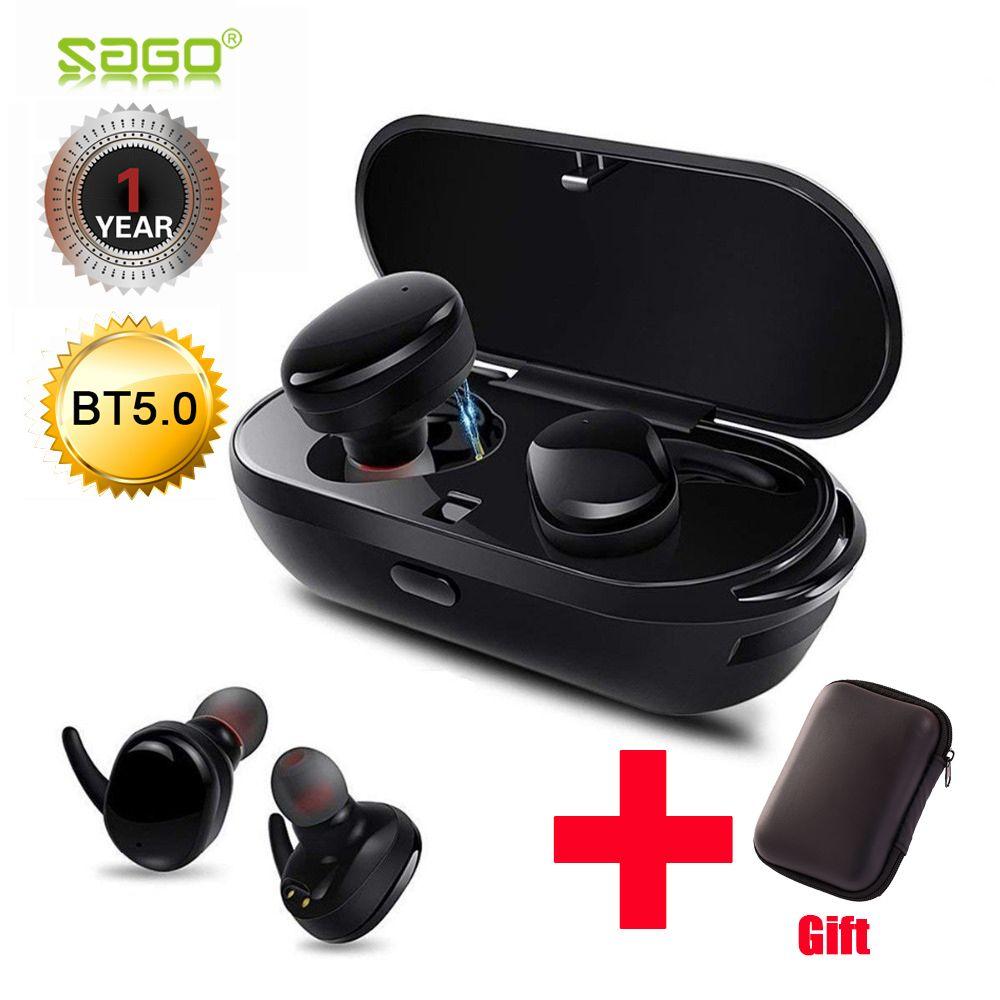 Sago s9100 Sports Headphones wireless bluetooth headset IPX5 waterproof earphone with Mic for iphone8 /xiaomi android phones