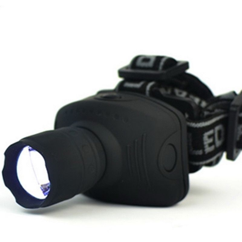 Freies Verschiffen Ankunft 3-Mode CREE Q5 1000 Lumen LED Zoomable Scheinwerfer stirnlampe Licht Lampe für 3 * AAA batterie