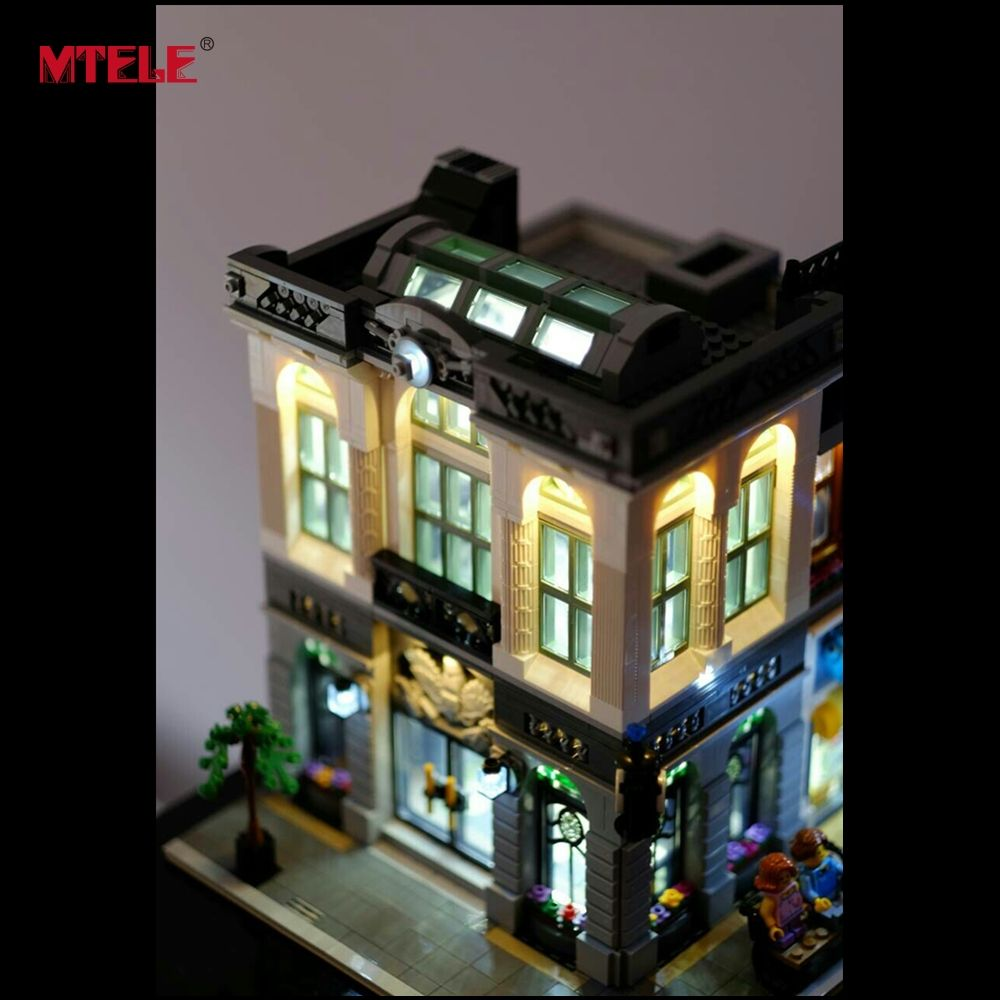 MTELE Brand LED light up kit for Creator Brick Bank Model Building Blocks Compatible with LEGO 10251