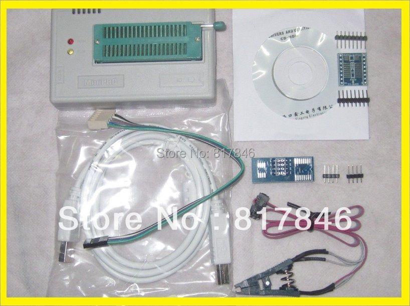 Free shipping English&Russian files V6.6 MiniPro BIOS EEPROG USB Universal Programmer TL866A+3items better than TL866cs ezp2013