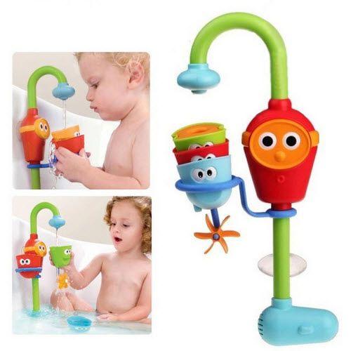 2016 Chaude Multicolore baignoire Bébé Fun jouets automatique bec jouent robinets/étayée pliage douches à jets jouet robinet jouer avec l'eau