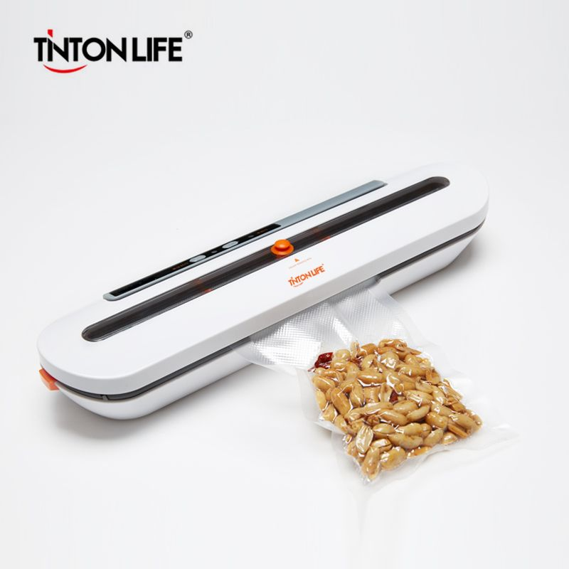 TINTON VIE Alimentaire Emballage Emballage Sous Vide Machine Avec 10 pcs Sacs Livraison Des Aliments Sous Vide D'étanchéité Machine À Vide Sealer Packer