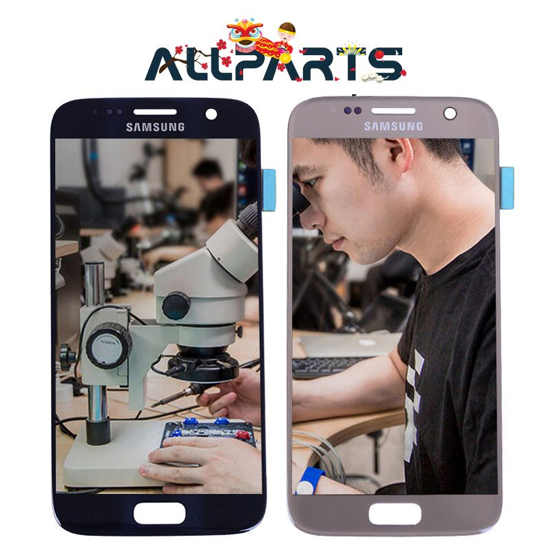 Warranty 5.1'' Super AMOLED Screen for SAMSUNG Galaxy S7 LCD Display G930 G930F SM-G930 Touch Screen Digitizer Replacement Parts