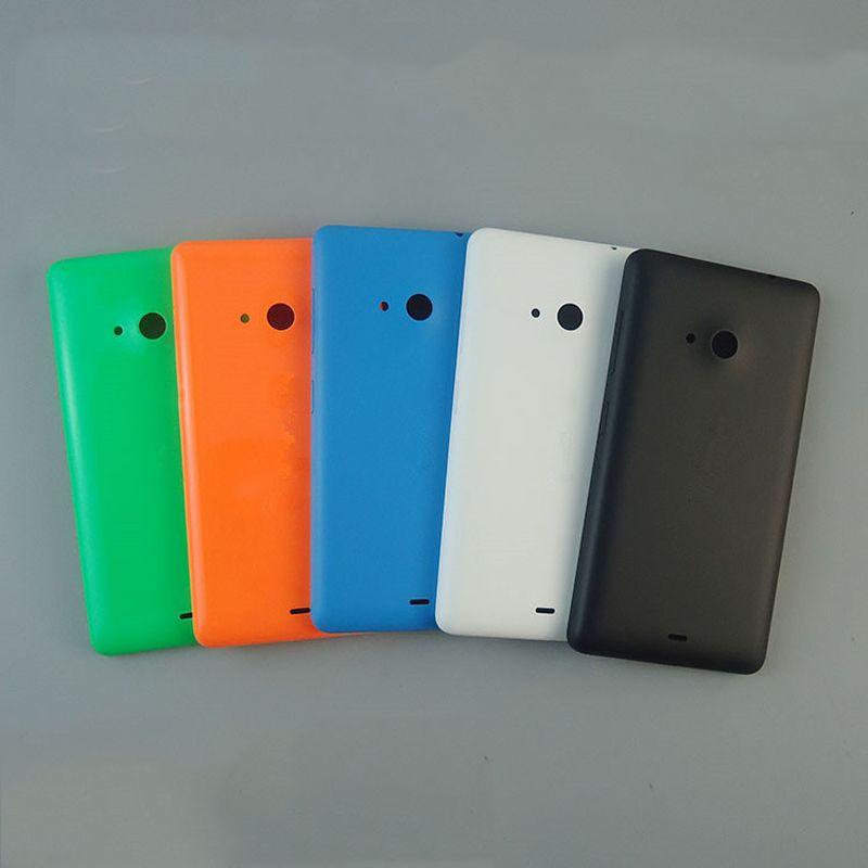 Nueva materia prima para Nokia Lumia 535 batería cubierta de la puerta para Nokia 535 con el botón lateral negro blanco azul verde