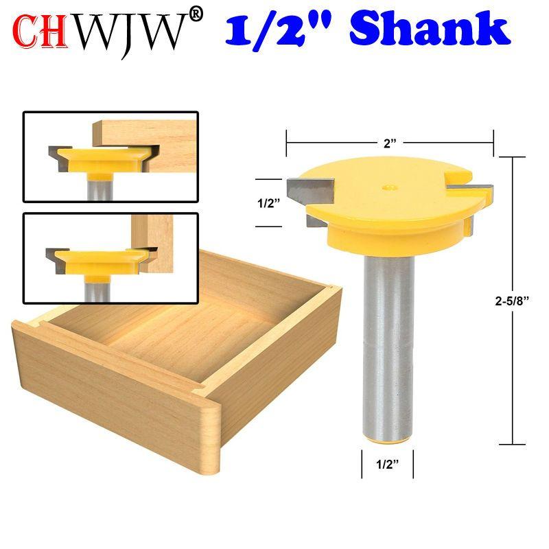 1 PC 1/2 ''tige droite Rail & Stile routeur outil de coupe de burin à bois