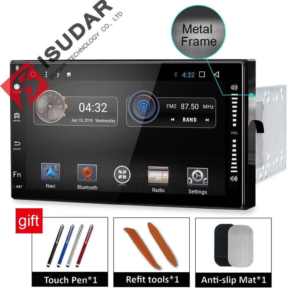 Isudar Universal Car Multimedia player 2 din android 7.1.1 7 Inch For Volkswagen/Passat b5/Toyota/corollaNissan/Tiida/QASHQAI