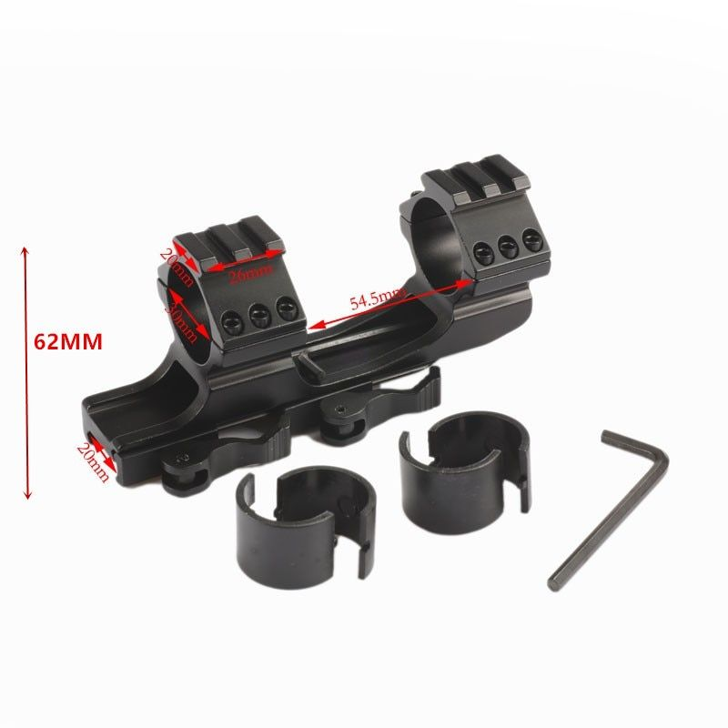 Quick Release Scope Mount 25.4mm 30mm Dual Ring Cantilever HeavyDuty Rifle scope Mount  Picatinny Weaver Rail Hunting Caza