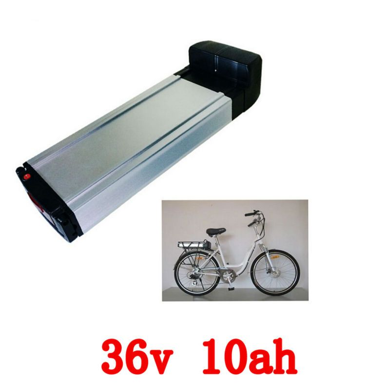 US EU No Tax Electric Bicycle 36V 10AH Rear Rack Battery for Bafang BBS01 BBS02 eBike Battery + Double Layer Luggage Rack