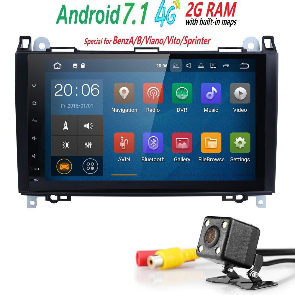 2Din GPS AutoRadio Car Multimedia Player for Mercedes Vito W639 Sprinter Viano W906 Benz B200 Een W169 W245 crafter Head unitSWC