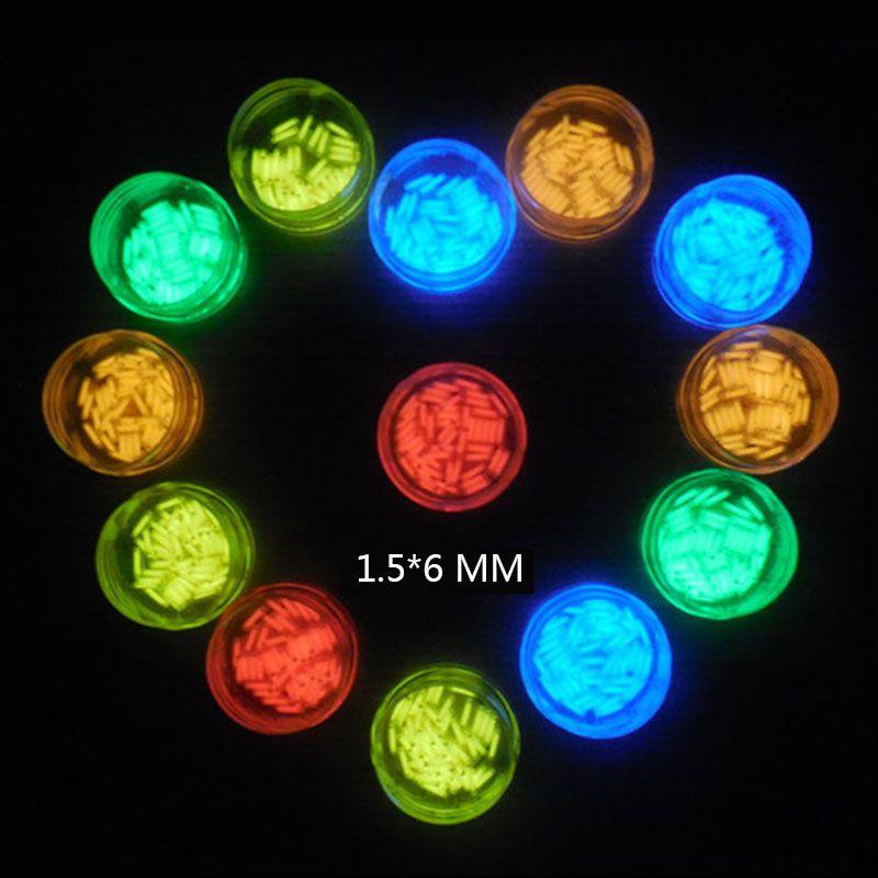 1PC 1.5*6mm Automatic Luminous 15 years Tritium Keychain Keyring Fluorescent Tube Lifesaving Emergency Lights Camping Equipment