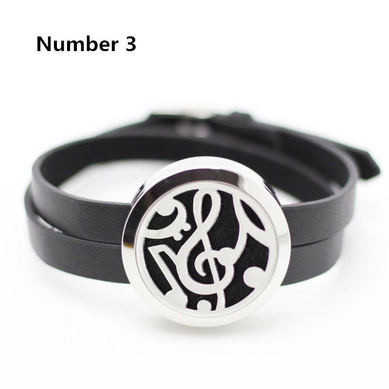 25 MM 30 MM Bracelet En Cuir pour Femmes De Mode 316L Acier Inoxydable Aromathérapie Diffuseur Médaillon Bracelets (livraison avec 5 pcs plaquettes)
